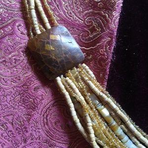 Jewelry - Multi strand beaded boho necklace